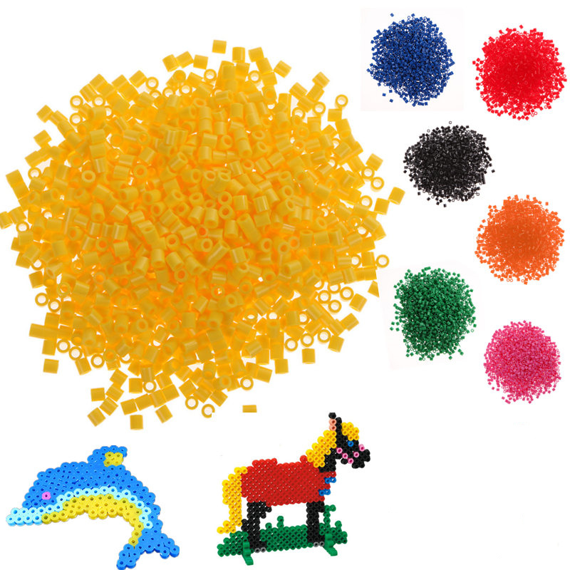 Children Toys 1000pcs 5mm Hama Perler Beads Kids Craft DIY Multicolor Handmaking Fuse Bead Toy Intelligence Educational Toys