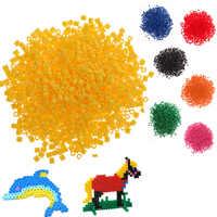 Juguetes para niños, 1000 Uds., 5mm, Hama Perler Beads, manualidades para niños, DIY, Multicolor, manualidades, fusible, cuentas, juguetes educativos de inteligencia