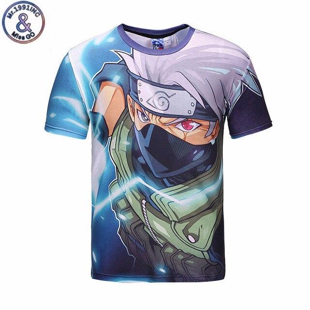 Naruto camisetas hombres 3D personaje de dibujos animados camiseta blusas 64dcd349f00ad
