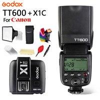 Godox TT600 GN60 2.4G Wireless TTL 1/8000s Flash Speedlite + X1T C Trigger for Canon 1100D 1000D 7D 6D 60D50D 600D Camera