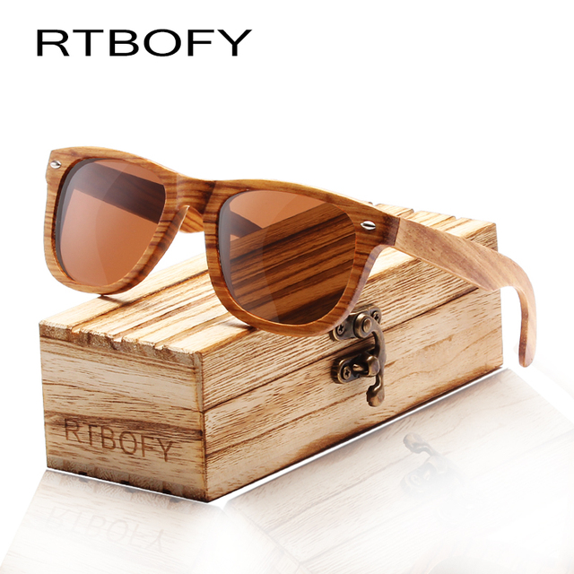 4c15141a34 RTBOFY Wood Sunglasses Women Brand Designer 2017 Bamboo Sun Glasses For Men    Women Vintage Shades