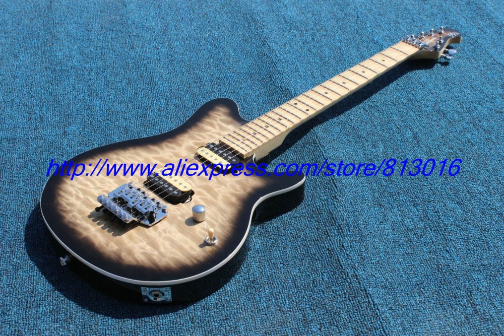 buy hot customised electric guitar e h type gray color black edge burst. Black Bedroom Furniture Sets. Home Design Ideas