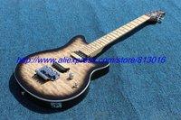 Hot ! customised electric guitar E H type gray color black edge burst .maple scallop neck, chrome parts ,Floyd tremolo!