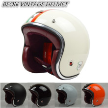 BEON moto CASCO CAPACETE open face beon vintage motorcycle helmet leather inner pad JET retro scooter