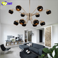 FUMAT Chandeliers Modern Pendant Chandelier Home Light Fixture Glass Luster LED Living Room Lamp Bedroom Chandelier Lighting