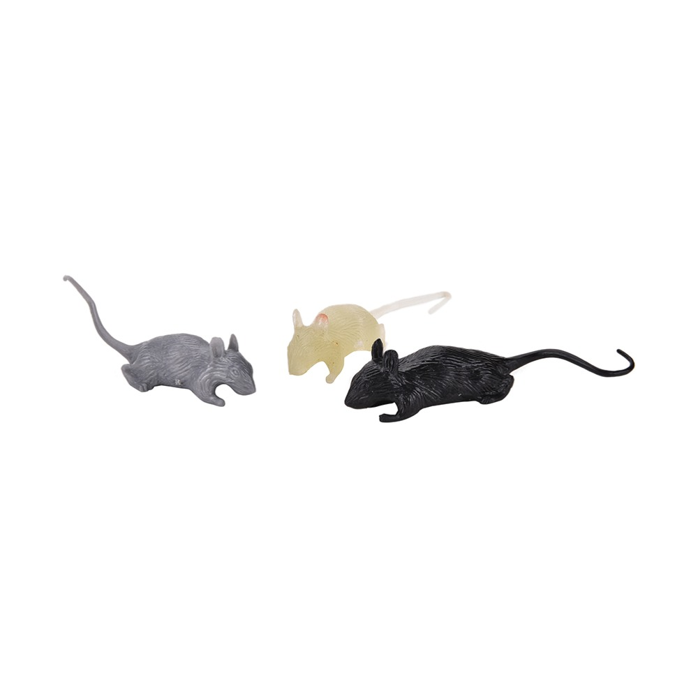 2 Pcs Joke Toy Mock Fake Plastic Mouse Prank Scary Trick Cool Halloween Funny Toy On Sale