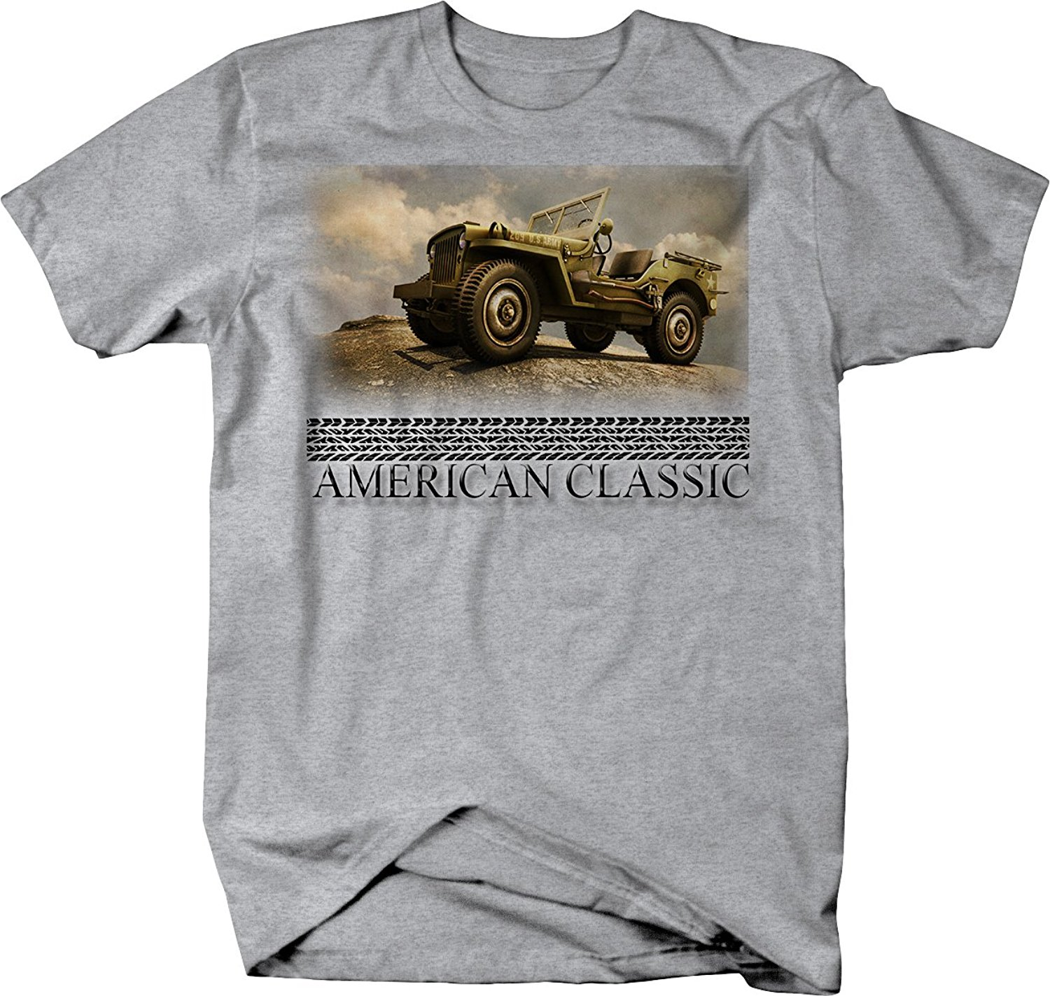 Military Jeep For Sale >> Us 12 06 5 Off 2019 Hot Sale Fashion American Classic Willys Us Military Jeep Army Vintage Tee Shirt In T Shirts From Men S Clothing On Aliexpress