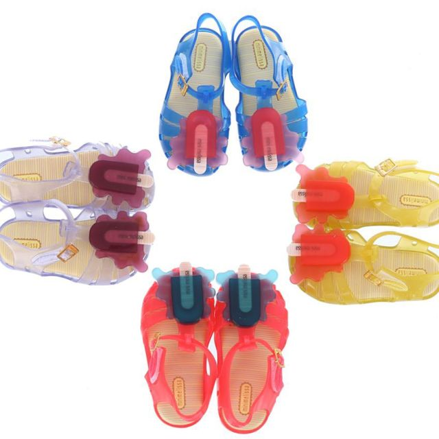 6fc8f06fd Summer Little Girl Sandals Mini Melissa New Scented Melting Popsicle Clear Jelly  Shoes Kids Sandals Toddler Children s Shoes