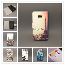 11 species pattern Ultra thin butterfly Flower Flag vintage Flip Cover For Samsung Galaxy S2 SII GT I9100 Galaxy S2 Plus i9105