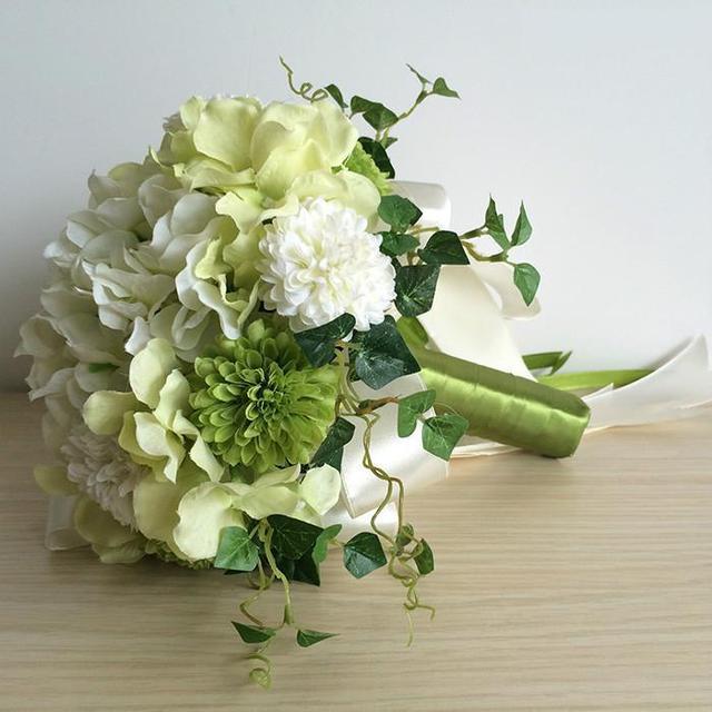 Wedding Bouquets Simulated Chrysanthemum & Orchids Bridal Bouquets Color: color 2