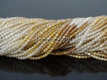 Grade AAA Brilliant Cut Shining Natural Zircon Gems Stones 2mm Faceted Round Beads 15″ Jewelry Making 2 Strands/Pack