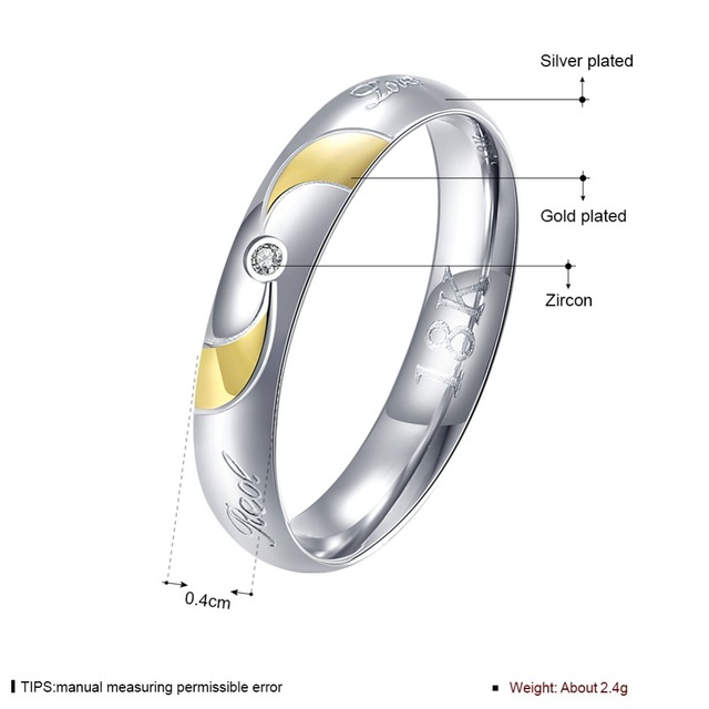 High Quality Wedding Ring Las Jewelry Female Gold Round Zircon Foreign Trade R226