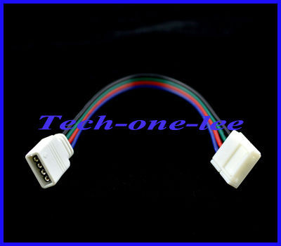 100pcs/lot 4pin Led Strip White Female to Free Welding 4 pin 5050 RGB 16 cm Cable Free Shipping