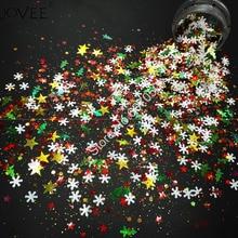 008# Разноцветные рождественские блестки с блеск для ногтей, форма для Блестки для рукоделия, декоративное украшение для лица