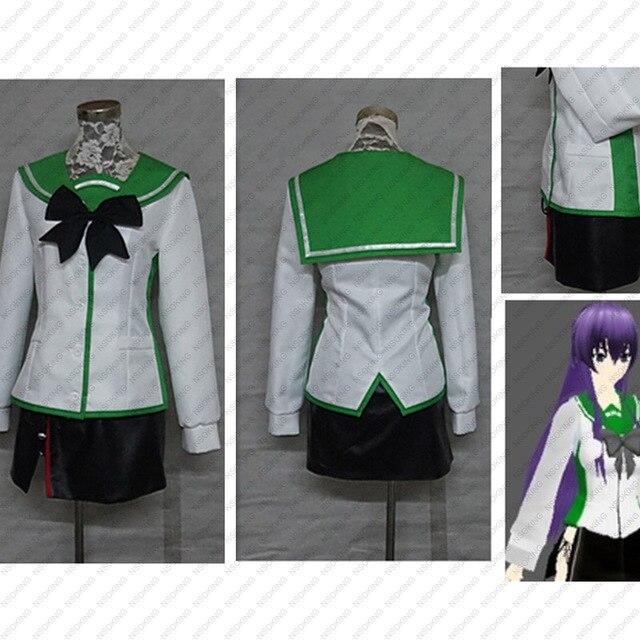 La Escuela Secundaria de Busujima Saeko Cosplay traje personalizado ... 9aea8f5f9d97