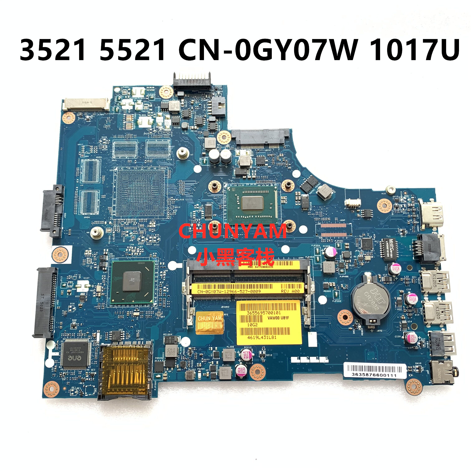 KEFU Mainboard NOTEBOOK 3521 LA-9104P INSPIRON DELL Laptop FOR 2521/3521/5521 1017u/Cn-0gy07w/0gy07w/Gy07w