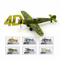 WW2 Deutsch Kämpfer BF109 Modell Flugzeug 6 Pcs Diy Kit Modell Flugzeug Pädagogisches Spielzeug Armas Blöcke Juguetes Educativos Kinder Geschenk