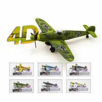 Ww2 alemão lutador bf109 modelo avião 6 pçs kit diy modelo de avião brinquedos educativos armas blocos juguetes educativos crianças presente