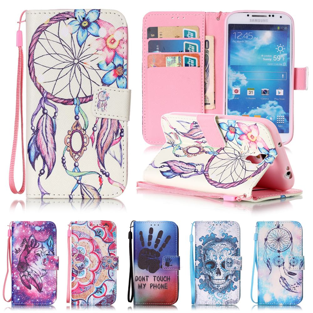 for coque samsung galaxy s4 case leather wallet silicone cover samsung galaxy s4 flip case dream. Black Bedroom Furniture Sets. Home Design Ideas