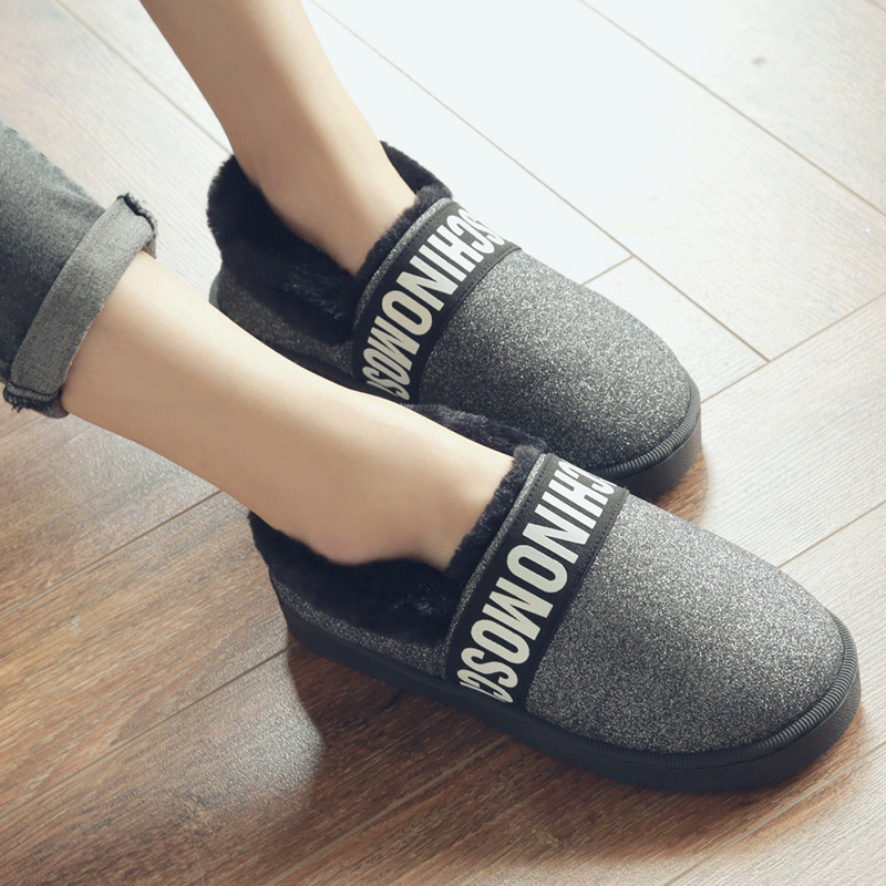 2017 Fashion Women Ankle Boots Winter Warm Cotton Shoes Thick Plush Warm Indoor Boots Non-slip Home Floor Shoes Botas Mujer fralosha white star thick plush warm indoor boots floor shoes shoes non slip soft home shoes boots and the same bathrobe series