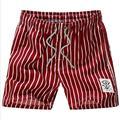 Nova Marca Quick Dry Shorts da Praia Dos Homens de Verão Listrado Casual Plus Size Para Homens Calções Domésticos # B0
