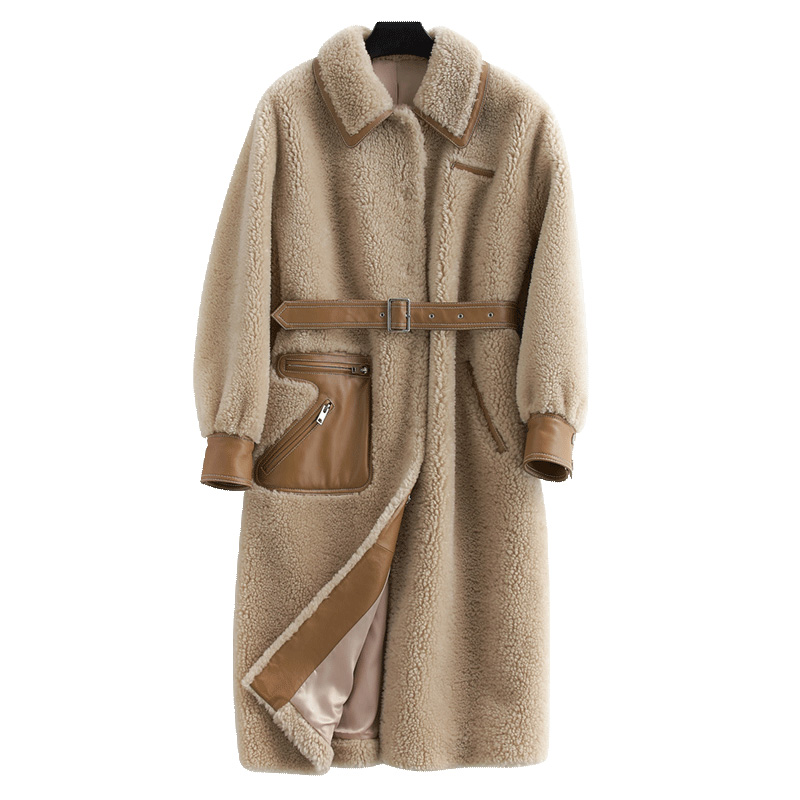 Real Fur Coat Streetwear 100% Wool Jacket Autumn Winter Coat Women Clothes 2019 Sheepskin Korean Vintage Sheep Shearling ZT3337
