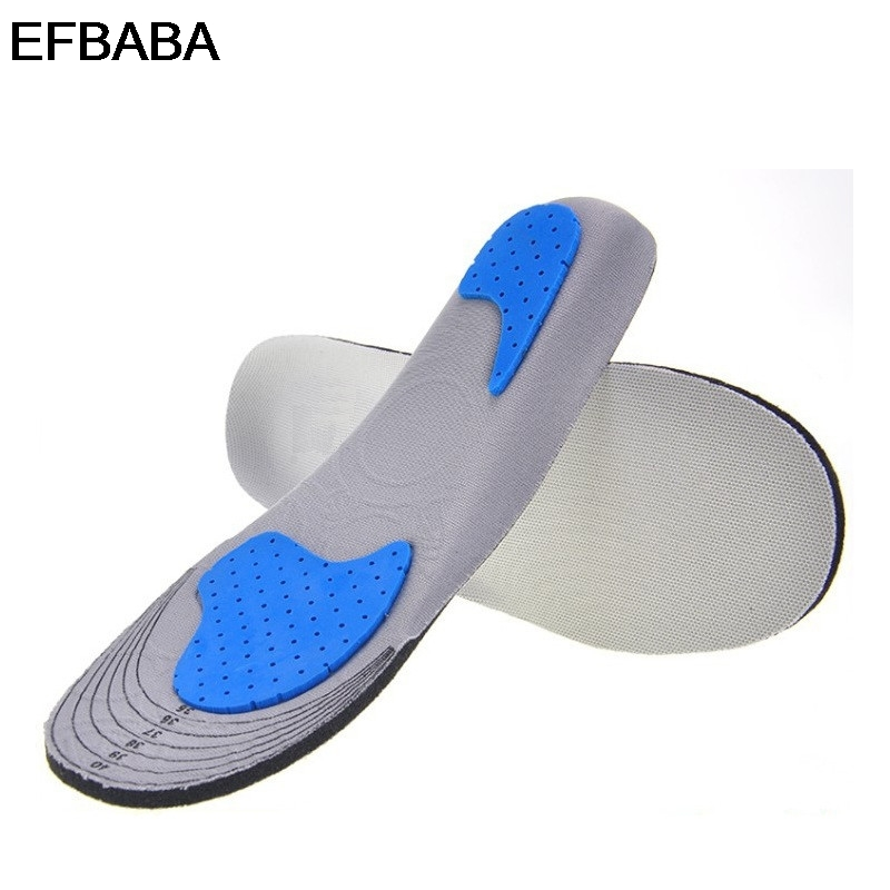 EFBABA Memory Foam Insoles Sweat Absorbent Breathable Damping Sports Insoles No Slip Men Women Shoe Pad Inserts Shoe Accessoires ultra soft memory foam pu sports insoles women or men shoes pad gel orthopedic thickened flatfoot absorb sweat military insoles