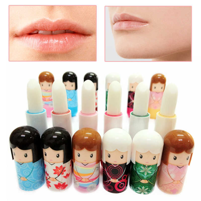 Hot Cute Doll Lip No Cracking Balm Moisturizing Random Color Fruit Nature Lipstick Balm Makeup Cosmetic Wholesale