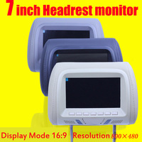 7 Inch Car Monitor Headrest Monitor Lcd Color Monitor Display Automobile Head Pillow Styling Player