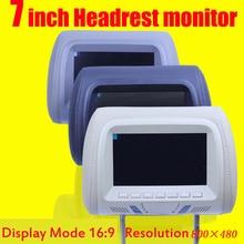 7 pulgadas monitor del coche reposacabezas monitor lcd color monitor display automóvil cojín de la cabeza estilo jugador Nuevo Precio Al Por Mayor