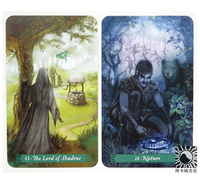 Full English Green Witch Tarot cards Factory Made High Quality Deck Board Game Cards