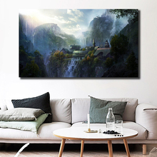 Lord Of The Rings Live Wallpaper Art Canvas Poster Oil Painting Wall Picture Print Modern Home Bedroom Decoration Accessories HD the art of wallpaper