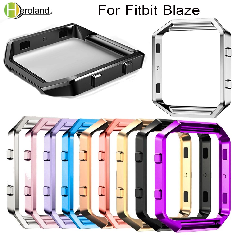 Replacement Case Accessory Stainless Steel Metal Frame Holder For Fitbit Blaze Smart Watch Accessories Frame Case Cover Shell
