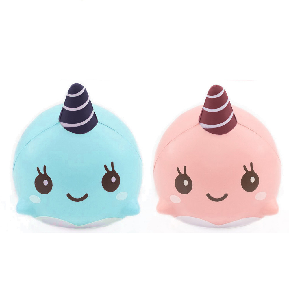 Antistress Elastic Environmentally PU Cat Squishy Squeeze Stress Reliever 2PC Soft Whale Cartoon Squishy Scented Slow Rising Toy