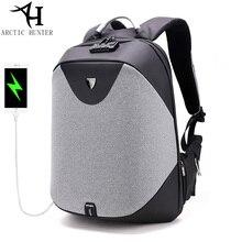 ARCTIC HUNTER Schule Rucksäcke 15,6 Laptop rucksack männer Wasserdichte Rucksack Lässig Reise USB Ladung Hin pack Männlichen Tasche Geschenk