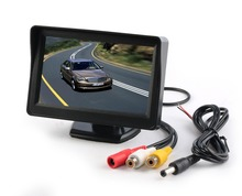 2 Video Input 4.3Inch Color TFT Digital LCD Car Monitor for Rear View Backup Camera System