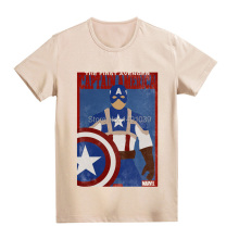 Avengers Captain America old poster soft cotton vintage fashion cool t shirt men women kids all