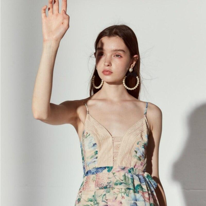 Hm-illusory summer dressLace edge 2019 nouvelle robe de plage nom vacances mer avec fée Air bourgeons couture vestd robe femmes robe - 4