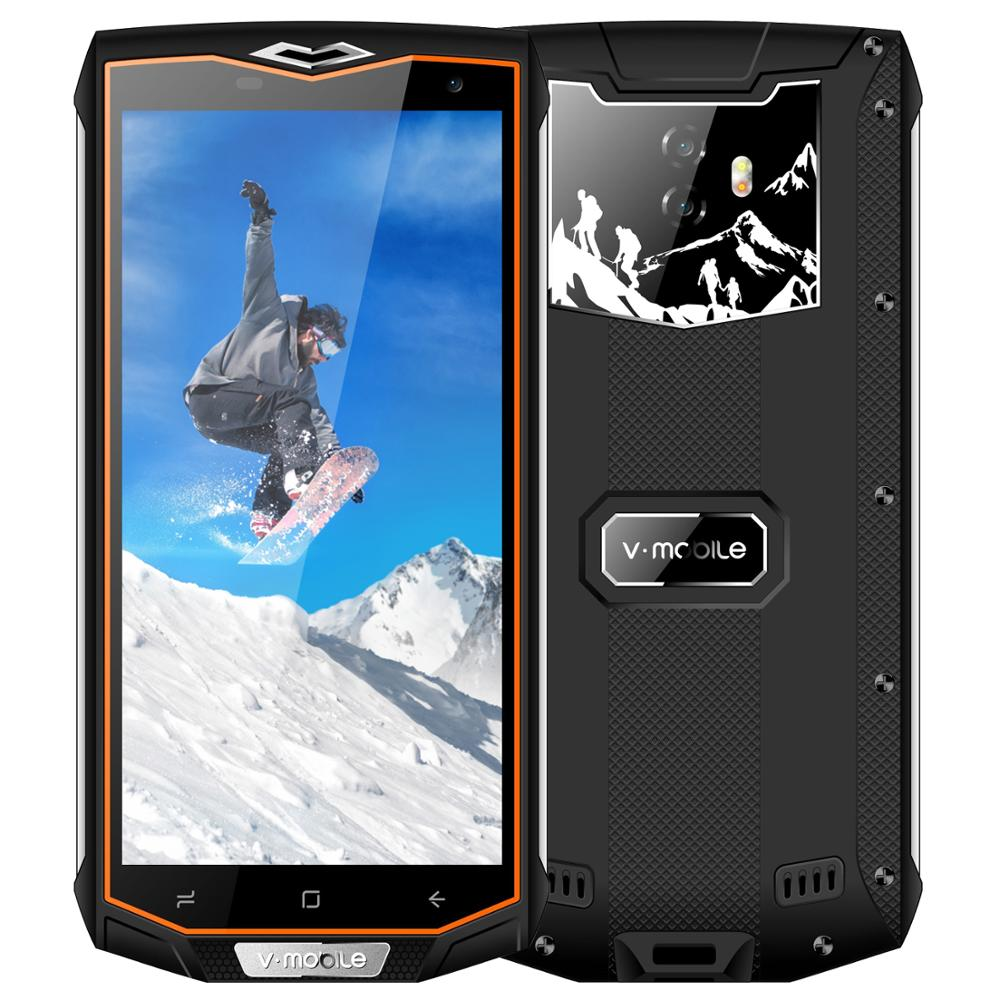 """Vmobile V66 Outdoor Mobile Phone Android 7.0 5.5"""" 18:9 HD Screen 3GB+32GB 6500mah Waterproof Smartphone Unlocked Cell Phones"""