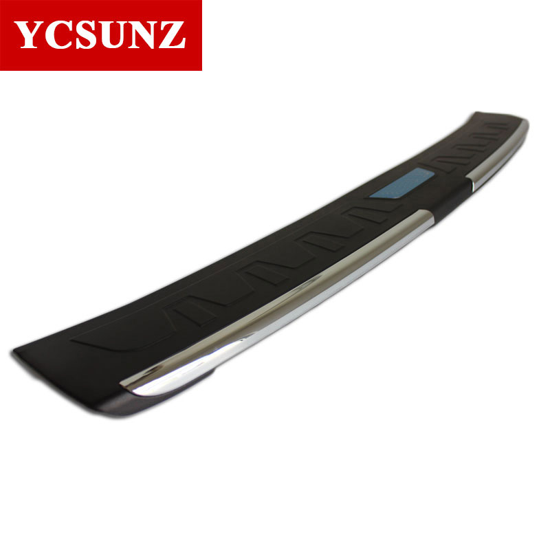 Car Accessories Rear Bumper Step Protector Parts Rear Step Trim For Toyota Fortuner Hilux Sw4 2016