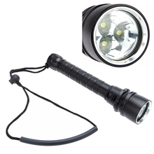3*XM-L T6 5000LM LED Diving Flashlight Torch Waterproof White Light LED Underwater 18650 Dive Torch