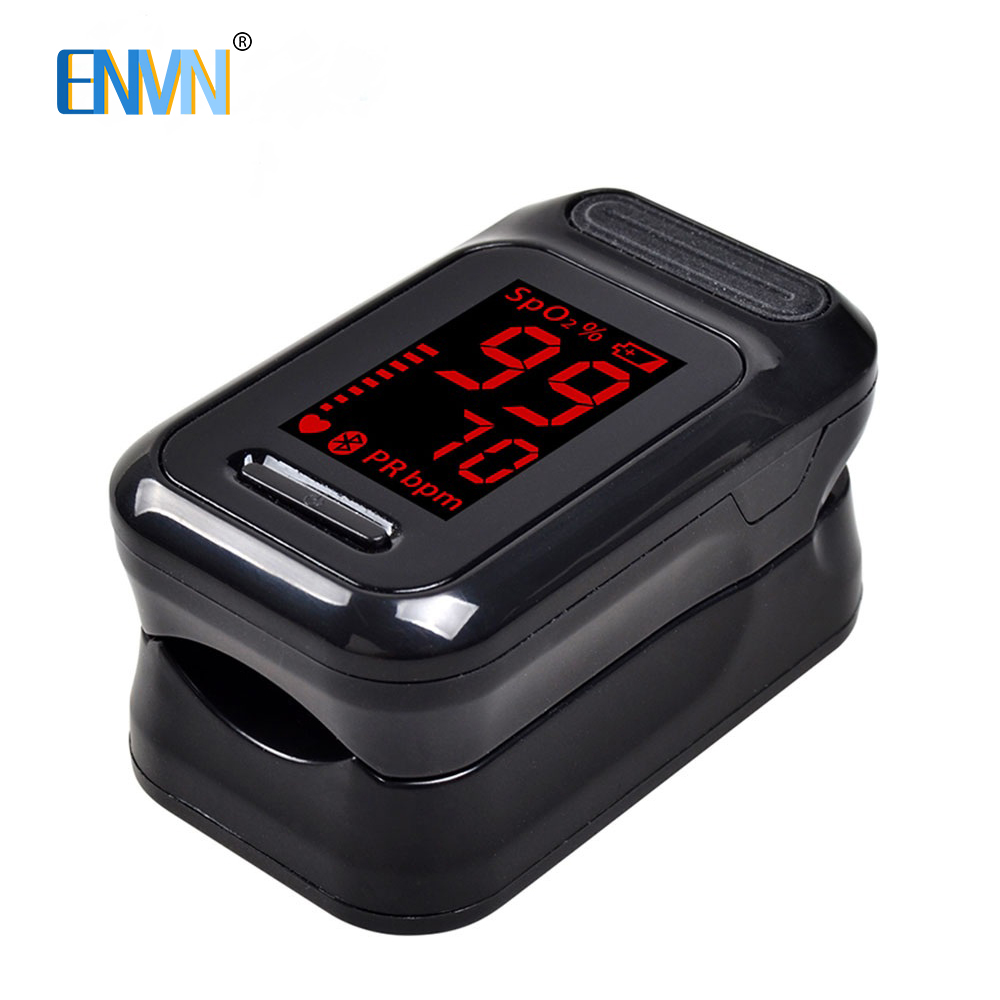ENVN LED Finger Pulse Oximeter Blood Oxygen Saturation Meter Fingertip Pulsoximeter SPO2 Monitor Oximetro Dedo Oximeter