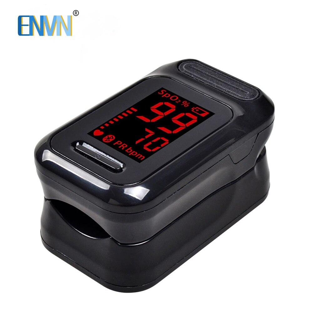 Envn led dedo oxímetro de pulso oxigênio no sangue saturação medidor dedo pulsoximeter spo2 monitor oximétrico dedo oxímetro
