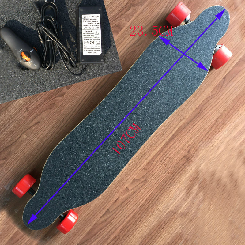 2017 Newest Remote Double Motors  Battery 4 Wheels Electric Skateboard Hoverboard Longboard Scooter Boosted Iaminated board