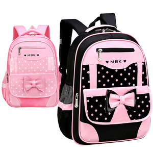 Image 4 - DIOMO 6 12 Year Old childs School Bag Set for Girl Fashion Dot Cute Bow School Backpack Starting School The Best Gift for Girl