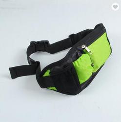 Duurzaam Zwart Polyester Outdoor Custom Logo Verstelbare Elastische Neopreen Waterdichte Fitness Reizen Heuptas