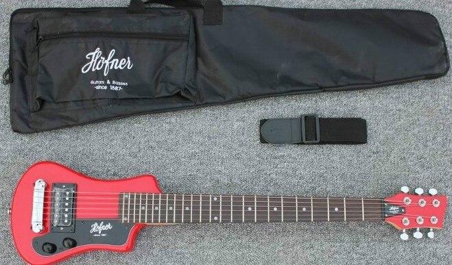 2016 nouveau + usine + mini Hofner guitare électrique 2 couleur Hofner voyage facile-en prenant la Guitare Hofner protable guitare livraison Gratuite