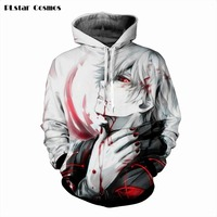 Tokyo Ghoul Men Hoodie 3D Graphic Print Ken Kaneki Sweatshirts Hip Hop Style Hooded Tracksuit Fashion Pullover