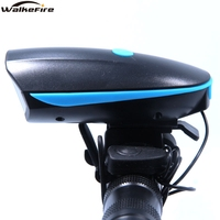 2 IN 1 LED Bike Light With electric Bell trembler buzzers horn switch Cycling Bicycle Lamp Battery Built-in USB Charging