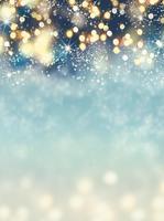 Sparkly Neon Color Snow Winter Bokeh Mistletoe Christmas Holiday photo backdrop Vinyl cloth Computer print party background